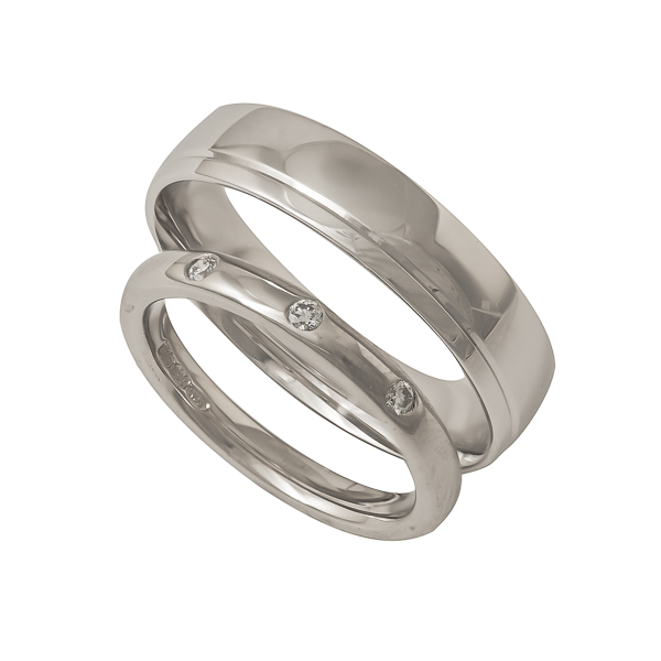 palladium and white gold wedding ring Loree Bologna Jewellery Nottingham