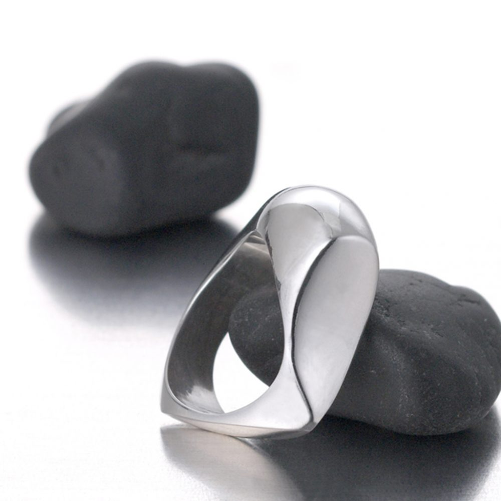 Sculptural Chunky Sterling statement ring