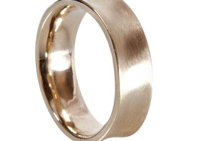 Concave Shaped Mens Wedding Ring
